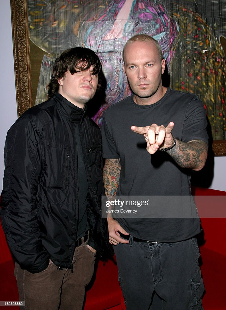 Fred Durst and Mike Smith during Limp Bizkit Visits MTV's TRL - September 23, 2003 at MTV Studios, Times Square in New York City, New York, United States.