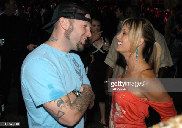 Fred Durst and Nicole Eggert during The Official Launch Party For Spike TV At The Playboy Mansion Inside at The Playboy Mansion in Bel Air California...