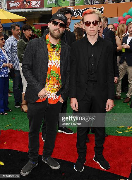 """Fred Durst and son Dallas Durst attend the premiere of """"Angry Birds"""" at Regency Village Theatre on May 7, 2016 in Westwood, California."""