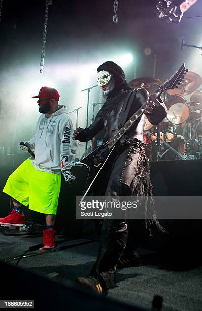 Fred Durst and Wes Borland of Limp Bizkit performs at Saint Andrews Hall on May 11 2013 in Detroit Michigan