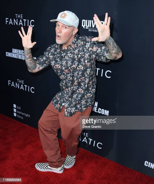 """Fred Durst arrives at the Premiere Of Quiver Distribution's """"The Fanatic"""" at the Egyptian Theatre on August 22, 2019 in Hollywood, California."""