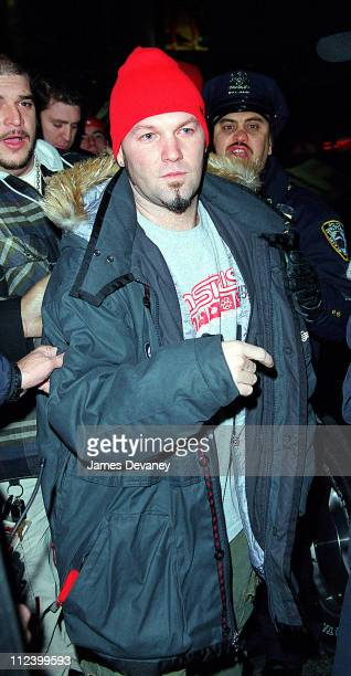 Fred Durst during Fred Durst Giving Out Free Copies of his CD at Times Square in New York City New York United States