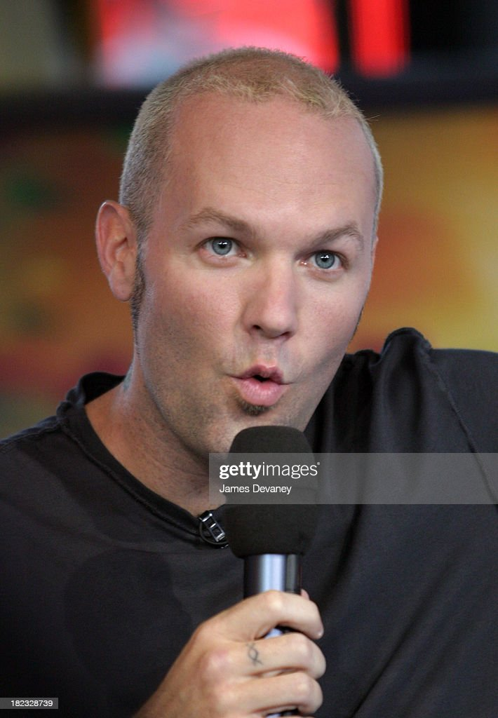 Fred Durst during Limp Bizkit Visits MTV's TRL - September 23, 2003 at MTV Studios, Times Square in New York City, New York, United States.