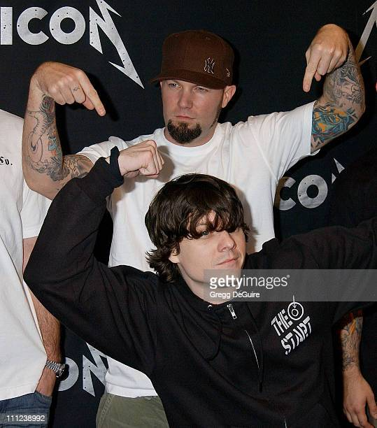 Fred Durst during mtvICON: Metallica - Arrivals at Universal Studios Lot in Universal City, California, United States.