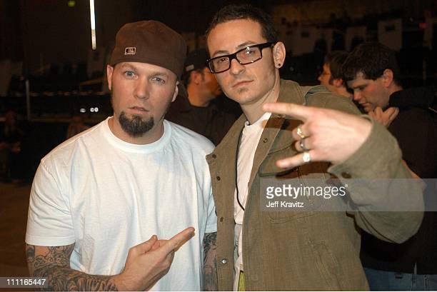 Fred Durst of Limp Bizkit and Chester Bennington of Linkin Park