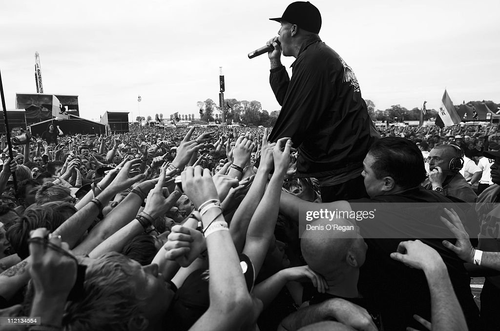 Fred Durst of Limp Bizkit at the Download Festival, UK, 2009.