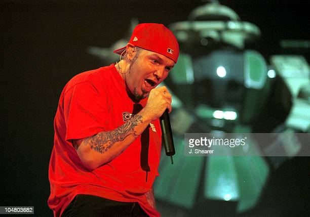 Fred Durst of Limp Bizkit during Limp Bizkit on the Anger Management Tour - San Francisco at Cow Palace in San Francisco, California, United States.