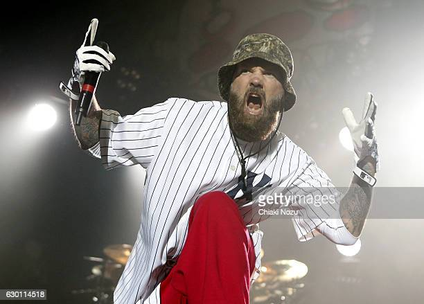 Fred Durst of Limp Bizkit performs at SSE Arena on December 16, 2016 in London, England.