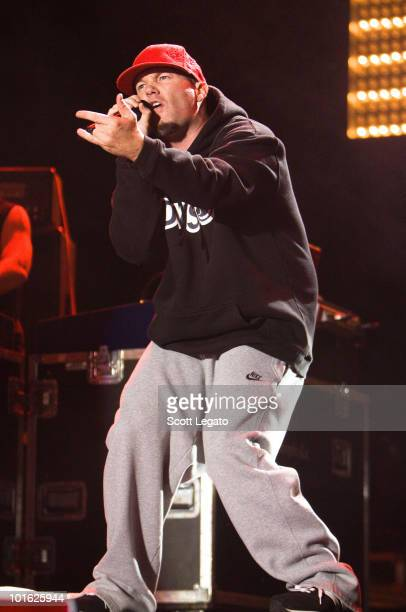 Fred Durst of Limp Bizkit performs during the 2010 Rock On The Range festival at Crew Stadium on May 23 2010 in Columbus Ohio