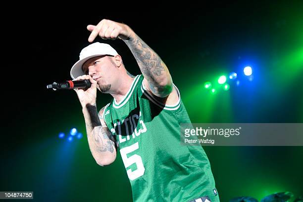 Fred Durst of Limp Bizkit performs on stage at the Philipshalle on September 05 2010 in Duesseldorf Germany
