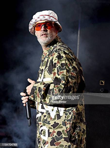 Fred Durst of Limp Bizkit performs onstage at KROQ Weenie Roast & Luau at Doheny State Beach on June 08, 2019 in Dana Point, California.