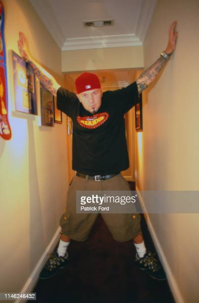 Fred Durst of Limp Bizkit, portrait at home, Beverley Hills, Los Angeles, California, United States, 2000.