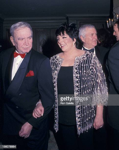 Fred Ebb and Liza Minnelli during The Drama League Salutes Liza Minnelli at The Pierre Hotel in New York City New York United States