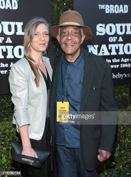 Fred Eversley and a guest attends The Broad Museum celebration for the opening of Soul Of A Nation Art in the Age of Black Power 19631983 Art...
