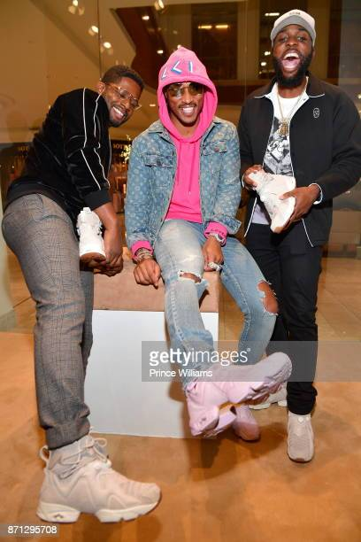 ed2f66cdc6372f Fred Foster Future and Sosay attend Future Reebok  Pluto  Shoe Release at  Jeffrey on