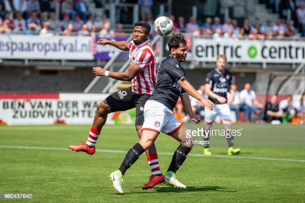 Fred Friday of Sparta Rotterdam Keziah Veendorp of FC Emmen during the Dutch Jupiler League playoffs final match between Sparta Rotterdam and FC...