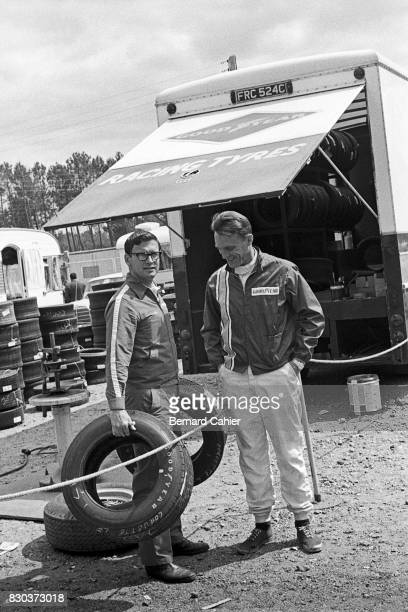 Fred Gamble Dan Gurney 24 Hours of Le Mans Le Mans 11 June 1967 Dan Gurney with Fred Gamble Goodyear european race divisdion director