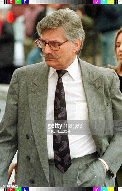 Fred Goldman, the father of murder victim Ron Goldman, and one of the plaintiffs in the O.J. Simpson wrongful death civil trial enters the Santa...