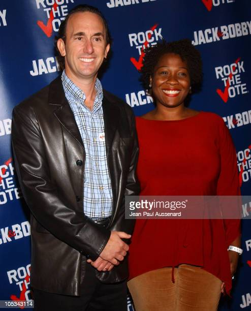 Fred Goldring Chairman of Rock The Vote and Jehmu Greene president of Rock The Vote