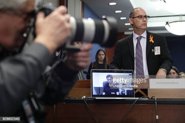 Fred Guttenberg father of murdered Marjory Stoneman Douglas freshman Jamie Guttenberg participates in a meeting about gun violence with US Senate...