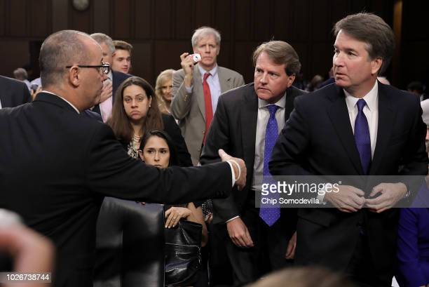 Fred Guttenberg , father of murdered Marjory Stoneman Douglas High School student Jamie Guttenberg, tries to shake the hand of Supreme Court nominee...