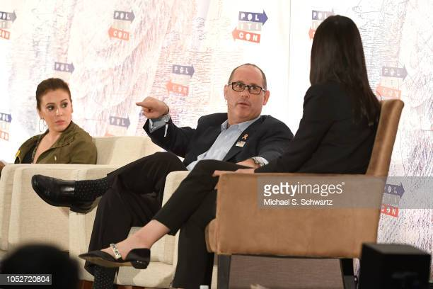 Fred Guttenberg speaks onstage at Politicon 2018 at Los Angeles Convention Center on October 21 2018 in Los Angeles California