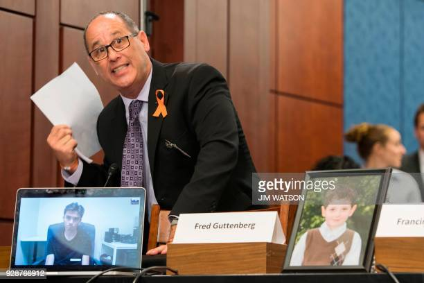 Fred Guttenberg the father of 14yearold Jaime Guttenberg who was killed at Stoneman Douglas High School in Parkland Florida pleads with Democratic...
