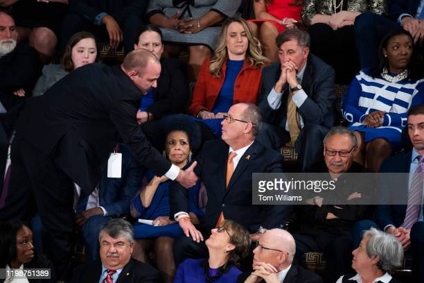Fred Guttenberg whose daughter Jamie was killed in the Parkland school shooting is removed after yelling during President Donald Trumps State of the...