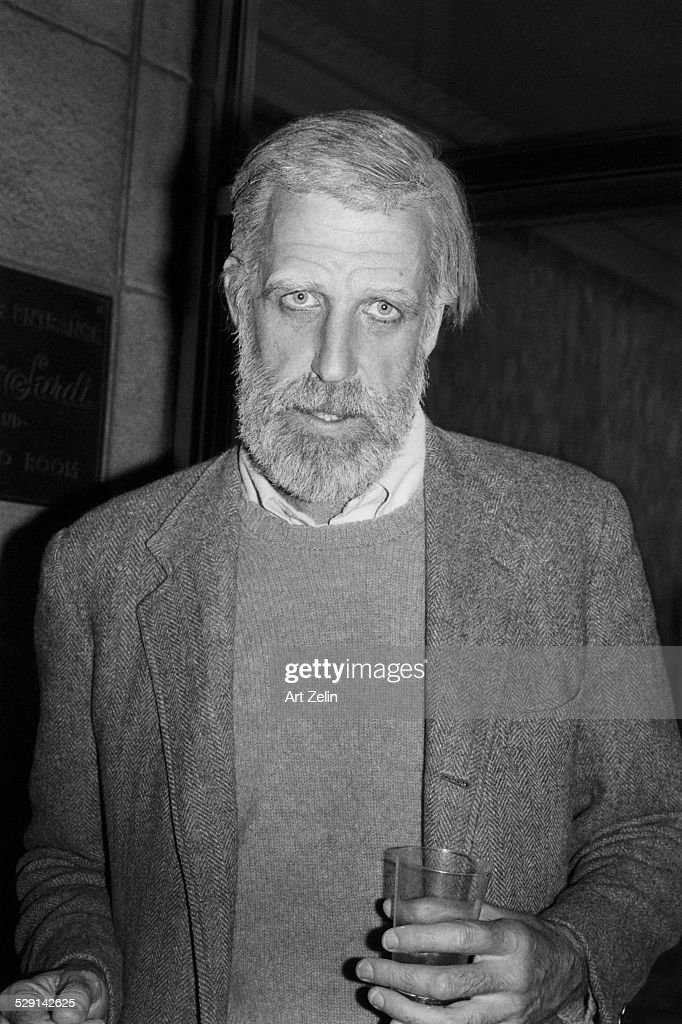 Fred Gwynne, bearded; circa 1970; New York.