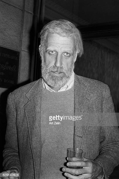 Fred Gwynne bearded circa 1970 New York