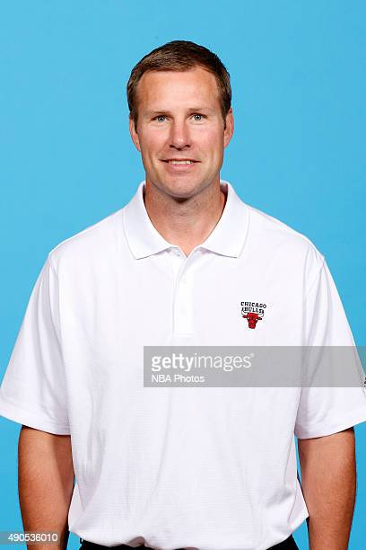 Fred Hoiberg head coach of the Chicago Bulls poses for a portrait during Media Day on September 28 2015 at the Advocate Center in Chicago Illinois...