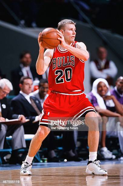 Fred Hoiberg of the Chicago Bulls during the game against the Charlotte Hornets on March 5, 2000 at Charlotte Coliseum in Charlotte, North Carolina.
