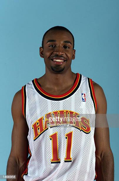 Fred House of the Atlanta Hawks poses for a portrait during the Hawk's Media Day on October 1 2002 at Philips Arena in Atlanta Georgia NOTE TO USER...
