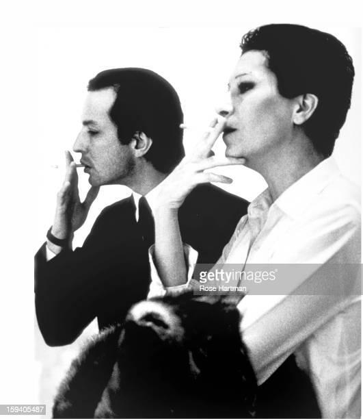 Fred Hughes and Elsa Peretti at the Marlboro Gallery, New York, New York, 1979.