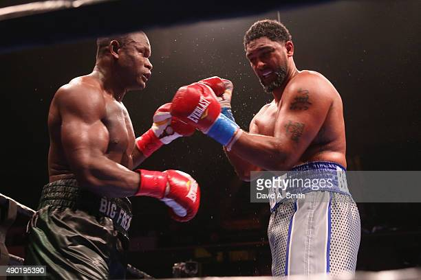 Fred Kassi and Dominic Breazeale fight at Legacy Arena at the BJCC on September 26 2015 in Birmingham Alabama