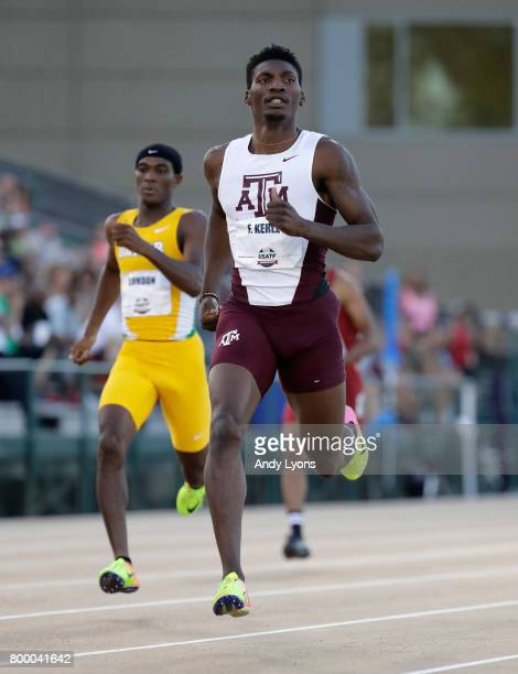 Fred Kerley runs in the Men's 400 Meter opening round during Day 1 of the 2017 USA Track Field Championships at Hornet Satdium on June 22 2017 in...