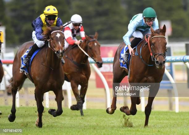 Fred Kersley riding Khartoum winning Race 3 during Melbourne Racing at Ballarat Racecourse on November 24 2018 in Ballarat Australia