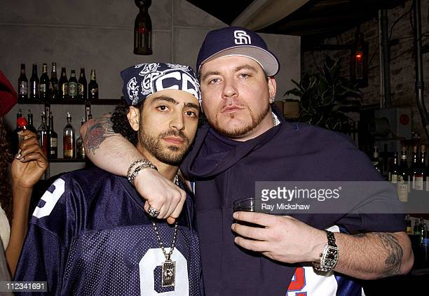 Fred Kewk and Everlast during 44th GRAMMY Awards Family Tree OutKast PreGrammy Party at Las Palmas Restaurant in Hollywood California United States