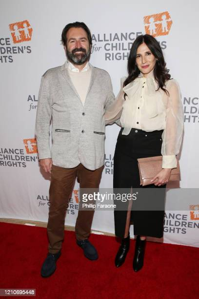 Fred Kramer and Michaela Watkins attend The Alliance For Children's Rights 28th Annual Dinner at The Beverly Hilton Hotel on March 05 2020 in Beverly...
