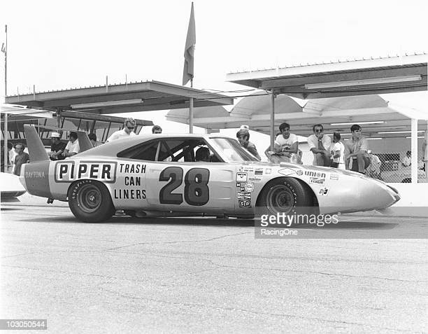 Fred LorenzenÕs Ray Foxprepared Dodge Charger Daytona sits on pit road prior to the running of the Firecracker 400 at Daytona International Speedway...