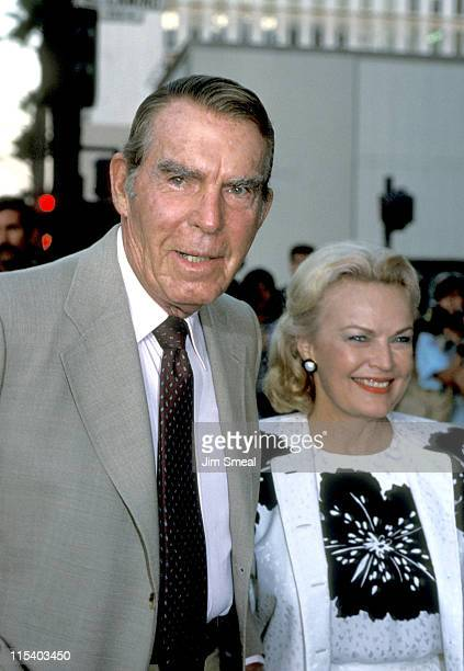 Fred MacMurray and June Haver during Fred MacMurray and June Haver at a Store Opening Circa 1985 in Beverly Hills California United States