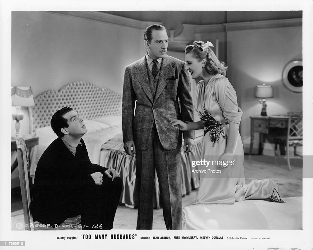 Fred MacMurray And Melvyn Douglas In 'Too Many Husbands' : News Photo