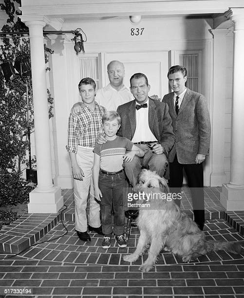 Fred MacMurray and TV family My Three Sons