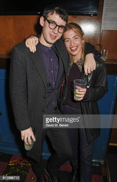 Fred MacPherson and Sydney Lima attend the ALEXACHUNG Fantastic collection party on January 30 2018 in London England