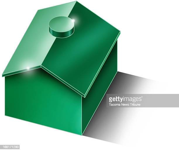 Fred Matamoros color illustration of a Monopoly house The News Tribune /MCT via Getty Images