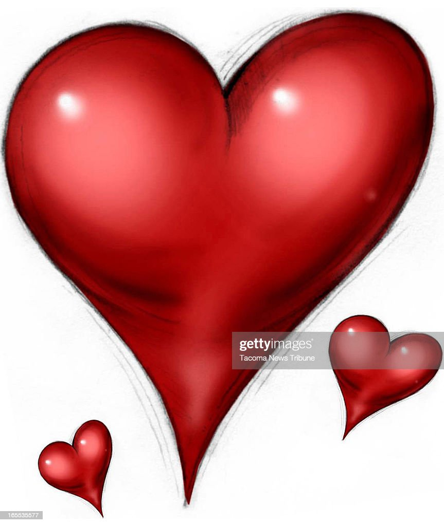 Fred Matamoros Color Illustration Of Red Hearts The News Tribune /MCT Via  Getty Images