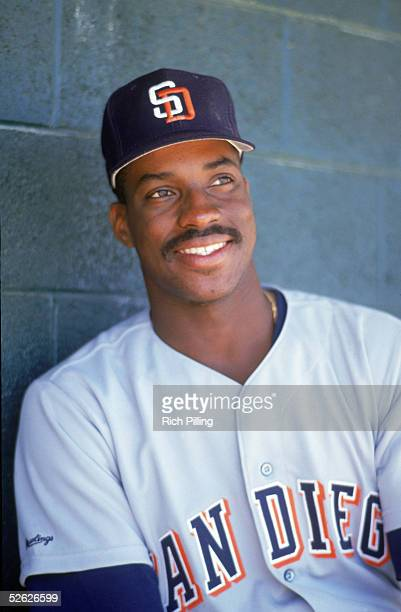 Fred McGriff of the San Diego Padres poses for a 1991 season portrait Fred McGriff played for the San Diego Padres from 19911993