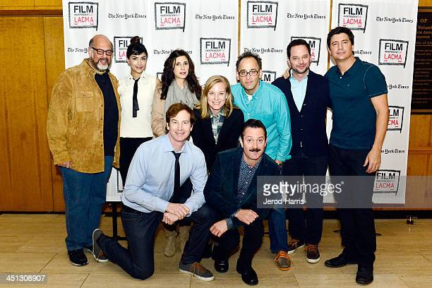Fred Melabed Hannah Simone Rob Huebel Michaela Watkins Zandy Hartig Thomas Lennon David Wain Nick Kroll and Ken Marino attend Film Independent's at...