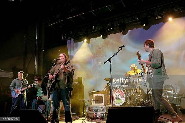 Fred Mitchum Tommy Hall Roky Erickson and Eli Southard of the 13th Floor Elevators perform as a group for the first time in 45 years during the...