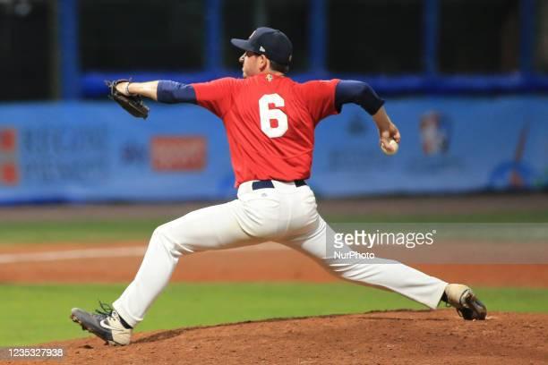 Fred Mosier during the Baseball match Baseball European Championship 2021 - Quarter finals - Netherlands vs Great Britain on September 16, 2021 at...